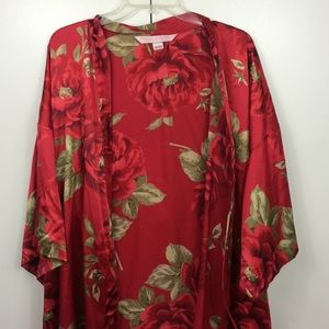 Victoria's Secret floral red robe -